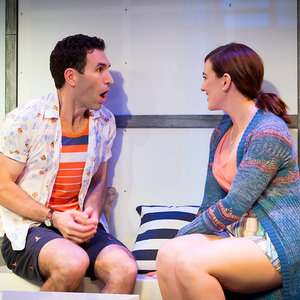 "(l to r) David Perlman and Stefanie Brown in ""A Dog Story"""