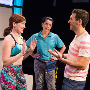 "(l to r) Stefanie Brown, Lindsie VanWinkle and David Perlman in ""A Dog Story"""